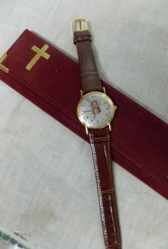 Galaxy Time Int'l Jesus and 12 Disciples Watch with Velvet Case & Certificate