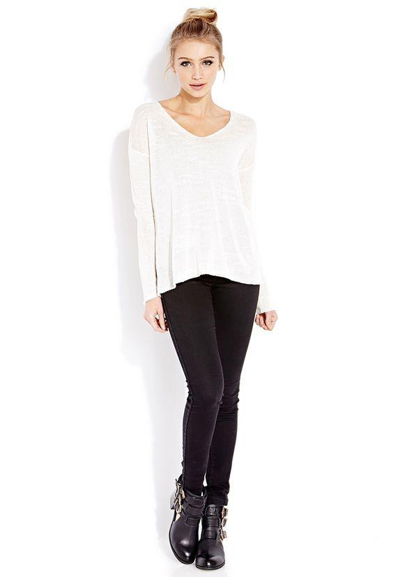 Favorite Open-Knit Sweater - Sweatshirts & Knits - 2000063880 - Forever 21 EU