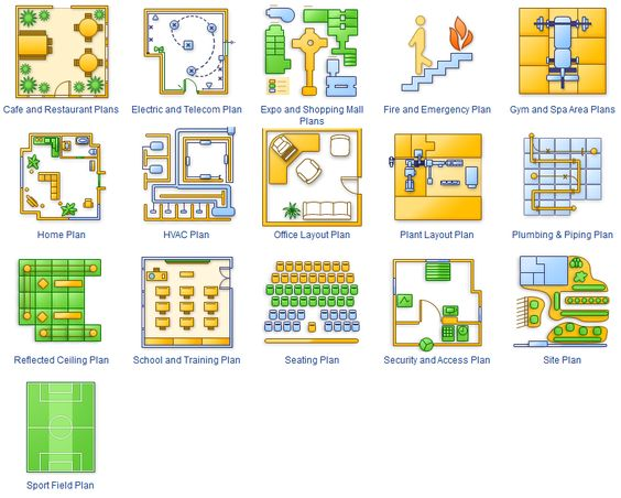 ConceptDraw Building Plans Solution Examples Plans Pinterest - evacuation plan templates