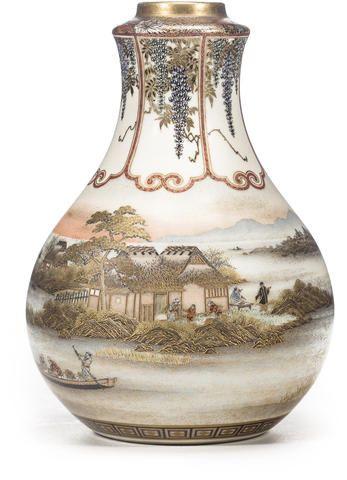 A Small Satsuma Vase By Yabu Meizan Meiji Period Late 19th Century