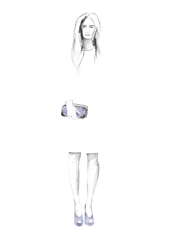 Ilustración bolsa Rombos Jacquard #artwork #doodle #pinedacovalin #fashion #boceto