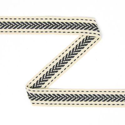 Fita de debruar Ziguezague 2 (15) - Poliéster - cor de areia