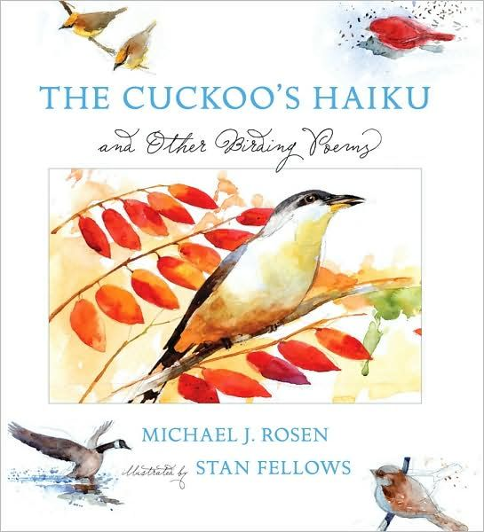 In spare and graceful words, poet and birder Michael J. Rosen captures the forecasting call of the mysterious cuckoo as well as essential characteristics of more than twenty commonly seen North American birds. This artfully compiled fi eld notebook — enriched by the evocative artwork of watercolorist Stan Fellows — captures the excitement of recognizing a bird, whether a darting kingfi sher, a wandering wild turkey, or a chirpy house sparrow.