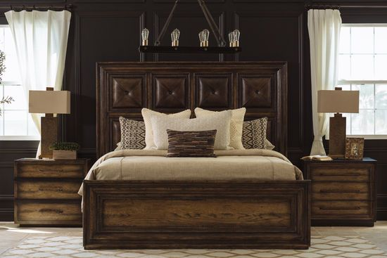 73 Casual California King Panel Bed In Dark Wood With Images White Furniture Living Room Rustic Furniture Stores Italian Bedroom Furniture