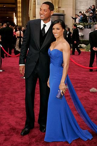 Made jada pinkett smith s blue strapless dress and jewelry that she