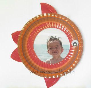 MadreCreativa: Pesci portafotografie dai piatti di carta