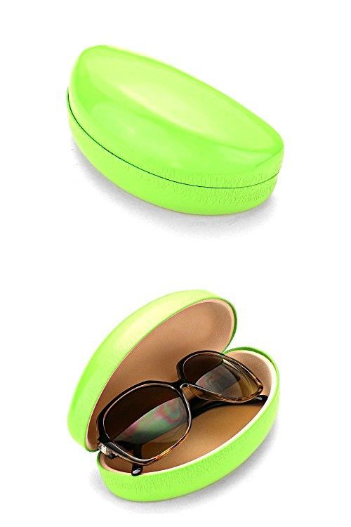 2be230c9f8a Green Hard Case Clamshell Eyewear Reading Glasses Case