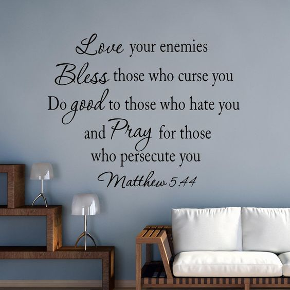 VWAQ Love Your Enemies Matthew 5:44 Vinyl Wall Decal