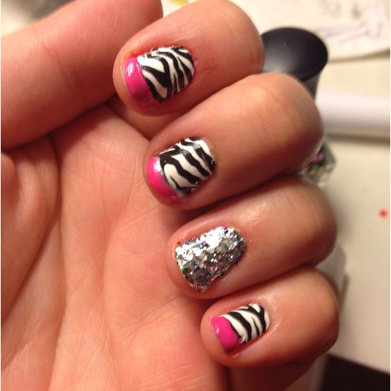 Party Rock Birthday nails.