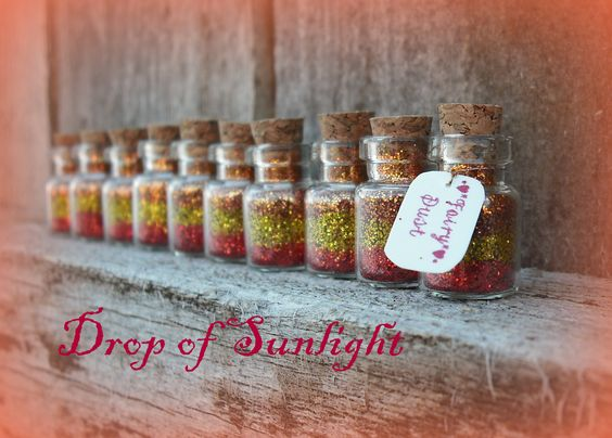 Fairy Dust Jars set of 10 Drop of Sunlight by thesetinytreasures, $10.98