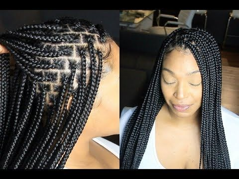 Knotless Box Braids Everything You Need To Know Slow Motion Youtube Small Box Braids Box Braids Hairstyles Box Braids Styling