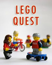 LEGO Quest Kids -- she makes up challenges for kids to do with their legos. this is pretty cool! @Sabrina Richards