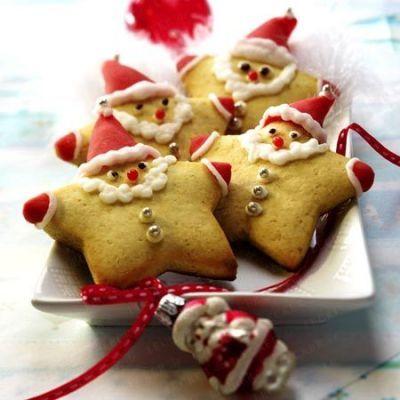 Bolachinhas Pai Natal de bolo de mel