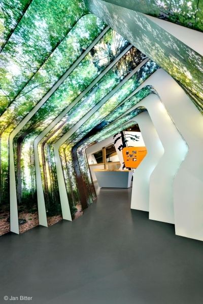 Holzer Kobler Architekturen Dauerausstellung im Besucherzentrum Hans-Eisenmann-Haus  ORT Nationalpark Bayerischer Wald, Neuschönau, Deutschland