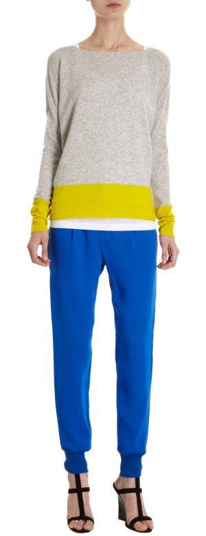 Vince Colorblock Boatneck Sweater at Barneys.com
