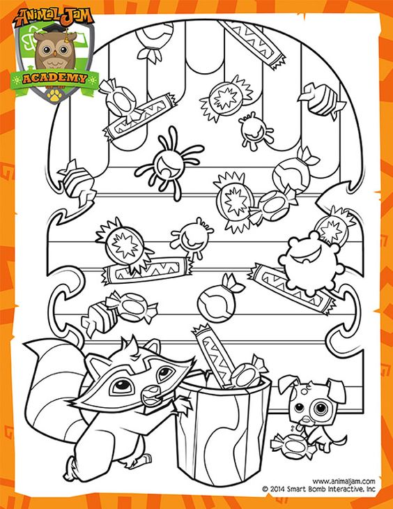 animal jam coloring pages jamaalidays - photo#17
