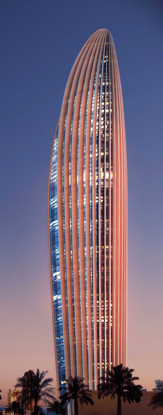 National Bank of Kuwait Tower (NBK) designed by Foster + Partners :: 70 floors, height 300m :: under construction: