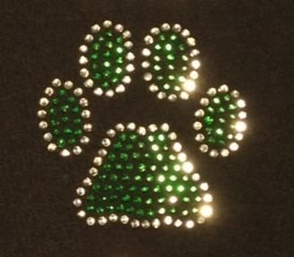 """Paw Print 2 color  Height: 3.00""""  Width: 3.00"""""""