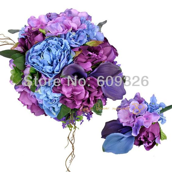Wholesale artificial wedding flower buy artificial flowers with wholesale artificial wedding flower buy artificial flowers with lavender blue and purple wedding flowers mightylinksfo