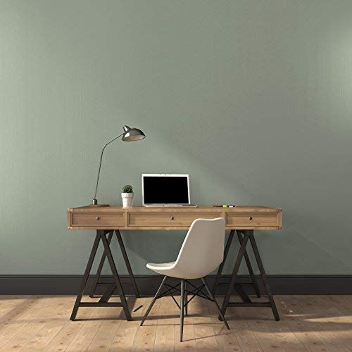 Tempaint Removable Self Adhesive Peel And Stick Non Woven Wallpaper Mural Wall Sticker Decals 23 6 Inch Green Accent Walls Green Office Decor Green Grey Paint