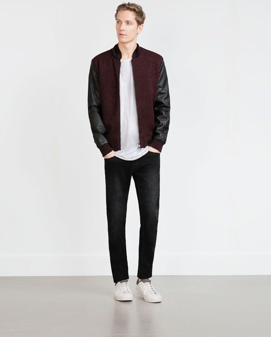 Image 1 of COMBINATION BOMBER JACKET from Zara | Fashion ...