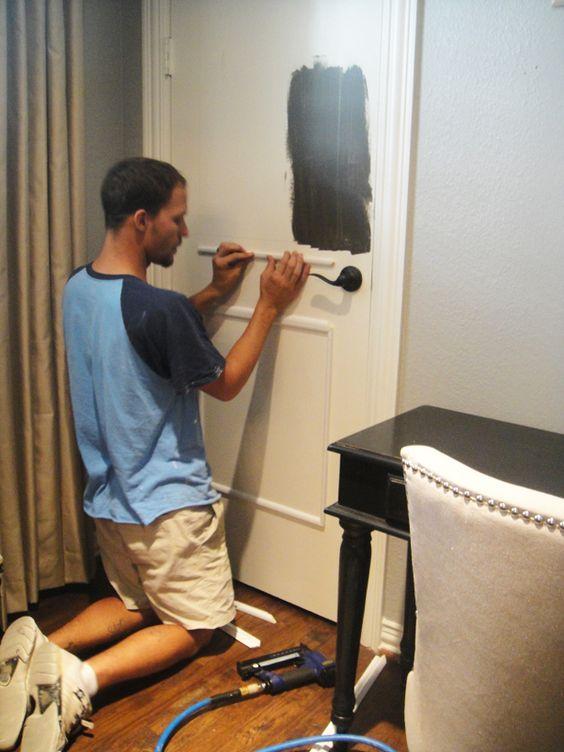Adding decorate molding to plain doors