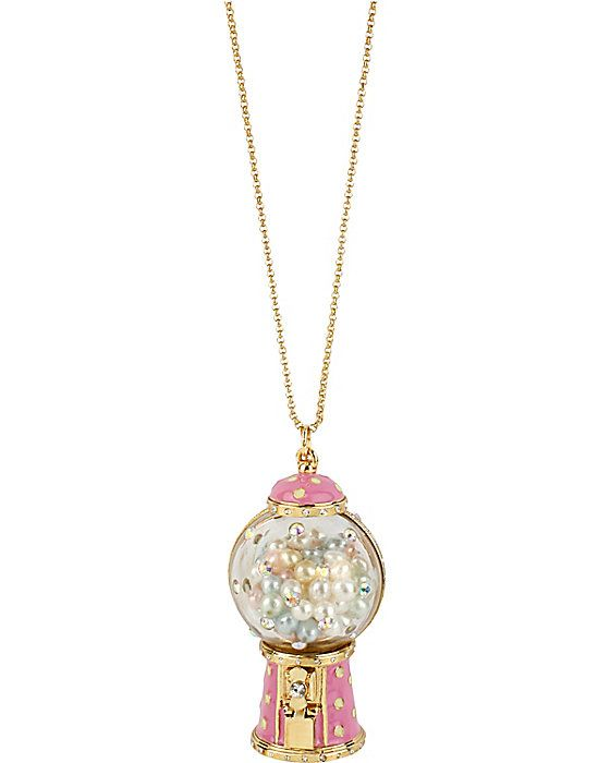 GUM BALL MACHINE PENDANT PINK accessories jewelry necklaces fashion