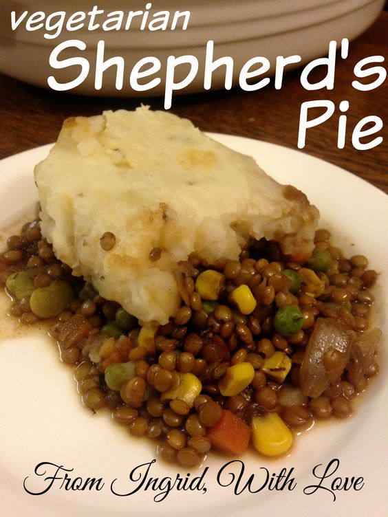 Vegetarian Shepherd's Pie- Delicious and flavorful shepherd's pie ...