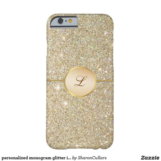 personalized monogram glitter iphone case