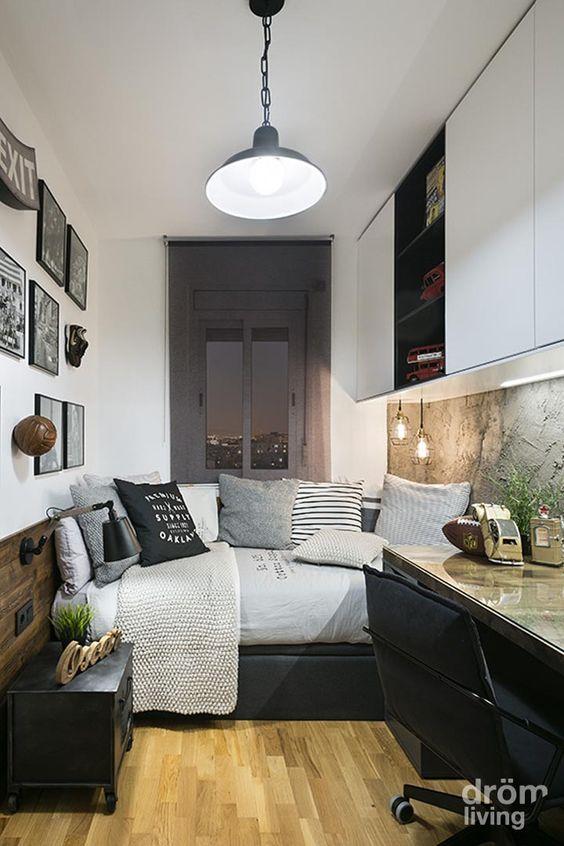 Habitación juvenil · Juego de grises Más