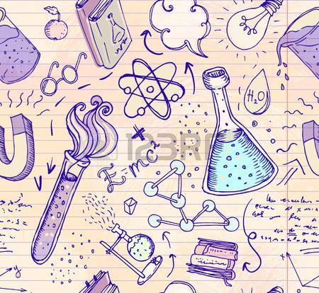Biology Sketches On School Board Royalty Free Cliparts, Vectors ...