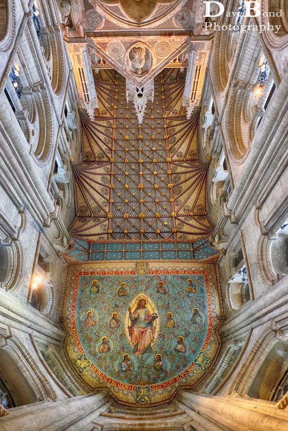 The roof in Peterborough Cathedral