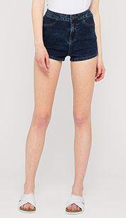 High-Waist-Shorts in dunkelblau