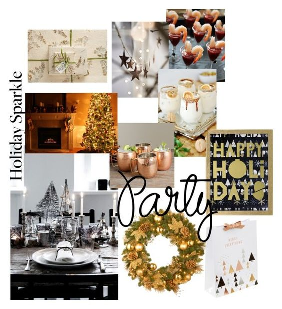 """""""get2gether"""" by g-gl ❤ liked on Polyvore featuring interior, interiors, interior design, home, home decor, interior decorating, National Tree Company, Old Dutch, Anthropologie and HolidayParty"""