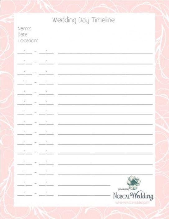 Wedding Day Timeline Page 1 Weddingday Templatefreeprintable Wedding Day Timeline Template Wedding Day Timeline Wedding Planning Tools