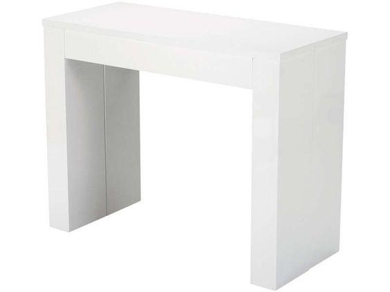 Console Extensible L 270 Cm Max Peninsule Coloris Blanc Vente De Console Conforama Console Extensible Table De Salle A Manger Extensible Table Extensible
