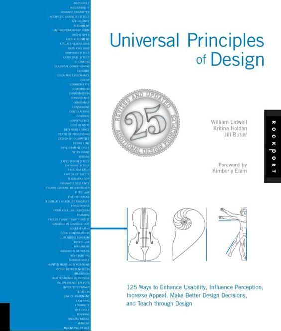 Principios universales del diseño. En inglés.