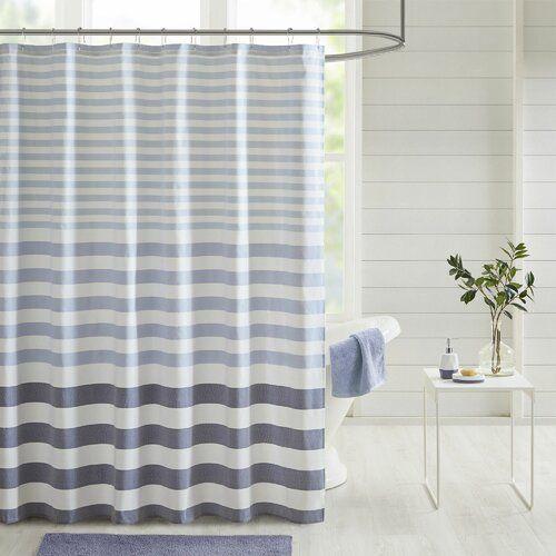 Odell Stripe Woven Shower Curtain Long Shower Curtains Striped Shower Curtains Cotton Shower Curtain
