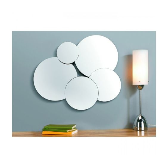 Miroir design bubbles nuages deco freezysnail for Reparation miroir