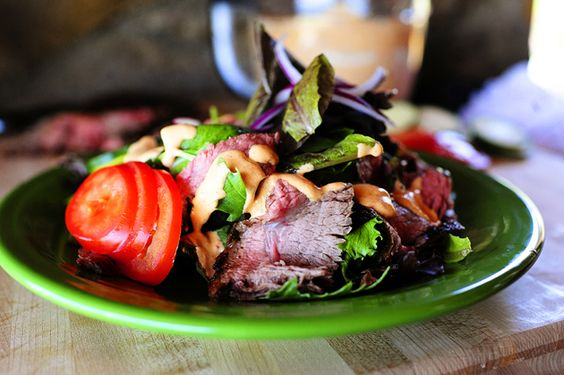 Chipotle Steak Salad by the pioneerwoman: h #Salad #Steak_Salad #thepioneerwoman: Woman Chipotle, Woman S Chipotle, Salad Recipe, Pioneer Woman S, Yummy Salad, Chipotle Steak, Steak Salad