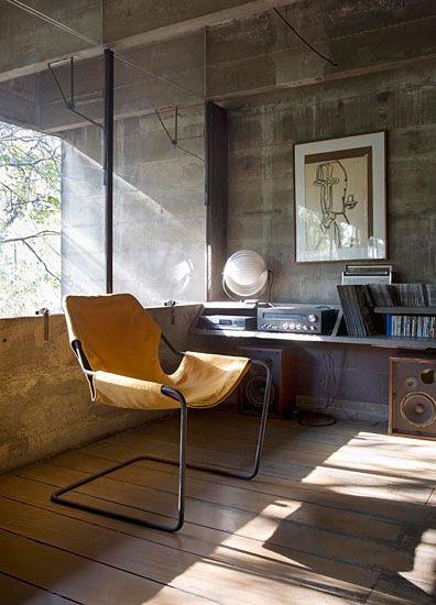 DWR - Pallistino Chair: Interior Design, Concrete Walls, Workspace, Living Room, Paulistano Chair, Music Room