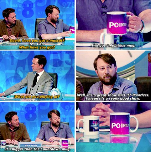 """When David tried to start a war between Jimmy Carr and Richard Osman. 