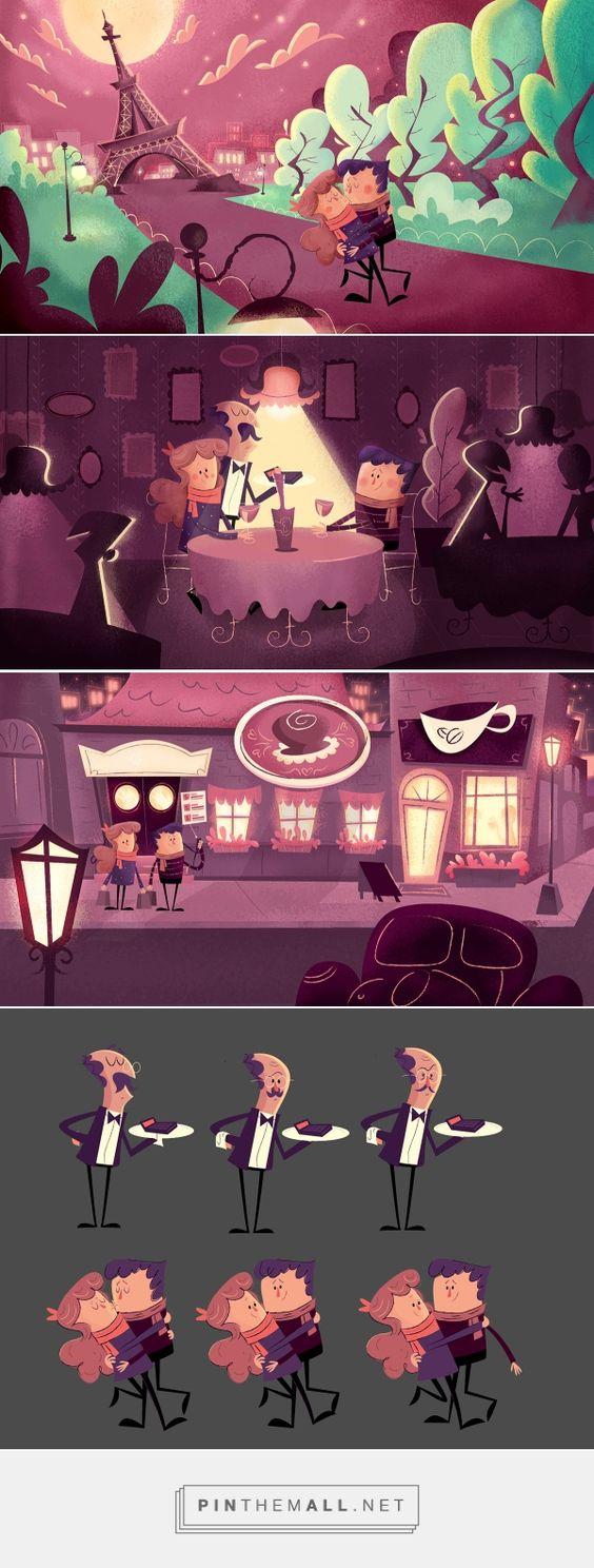 Cenários e Personagens para Animação - Sicoob on Behance... - a grouped images picture - Pin Them All