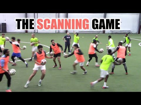 Soccercoachtv The Scanning Game Youtube In 2020 Soccer Coaching Online Coaching Football Drills