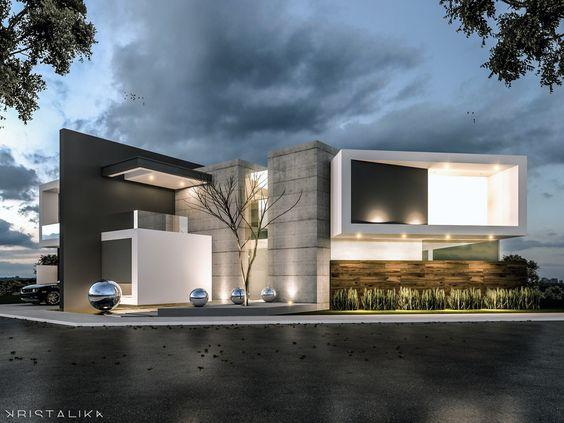 Einfamilienhaus mitten Großstadt moderne Architektur Gebäude stilvoll