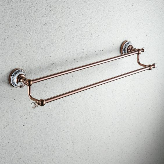 laiton antique ti-pvd murale Double porte-serviette RB8802 http://www.robinetfr.com/index.php?main_page=product_info&cPath=9_24&products_id=567