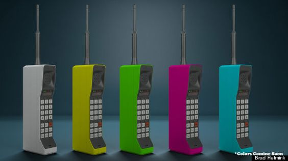 Killer news! The 1980's Brick Phone is back! Initially in the classic tan shade, more colors expected: