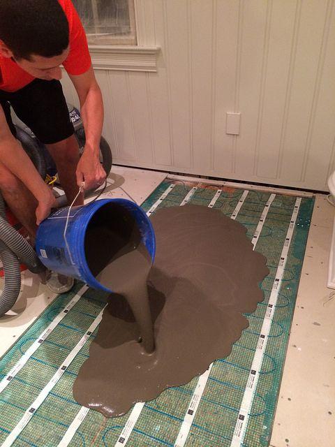 Radiant Floor Heating In Bathroom : Self leveling concrete and radiant floor heating
