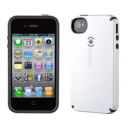 Speck Products CandyShell Glossy Case for iPhone 4/4S - 1 Pack - Carrying Case - Retail Packaging - White/Charcoal $6.99