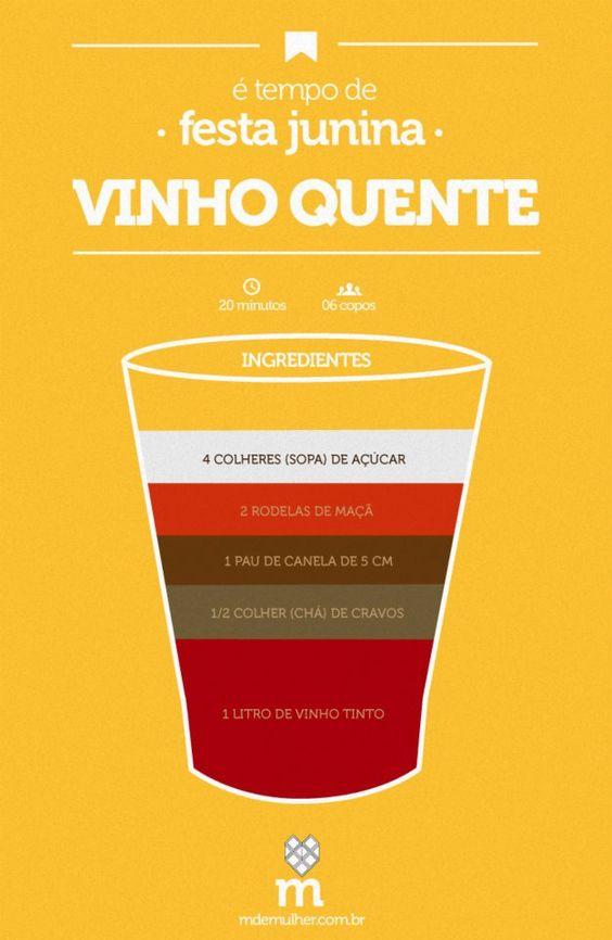 festa junina: vinho quente: